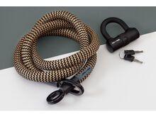 Tex-Lock Tex-Lock Eyelet L 160 cm inkl. U-Lock gold/schwarz