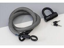 Tex-Lock Tex-Lock Eyelet M 120 cm inkl. U-Lock, grau - Fahrradschloss