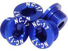 NC-17 M10 Kettenblattschraube für Sram 2-fach Kurbeln, blue
