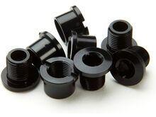 Race Face Bolt/Nut Pack Chainring Steel / Hex (5 Pack), black - Kettenblattschrauben