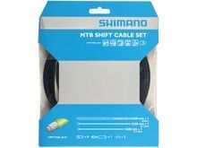 Shimano Schaltzug-Set MTB Edelstahl, Optislick beschichtet - 2x 2.100 mm, schwarz