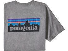 Patagonia Men's P-6 Logo Responsibili-Tee, gravel heather - T-Shirt