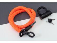 Tex-Lock Tex-Lock Eyelet M 120 cm inkl. U-Lock, orange - Fahrradschloss