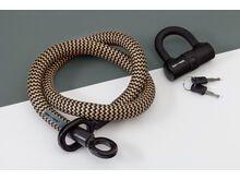 Tex-Lock Tex-Lock Eyelet M 120 cm inkl. U-Lock gold/schwarz