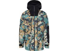 The North Face Men's A-Cad Futurelight Jacket, timber tan digi topo xl print/tnf black - Skijacke