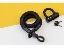 Tex-Lock Tex-Lock Eyelet S 80 cm inkl. U-Lock, schwarz - Fahrradschloss