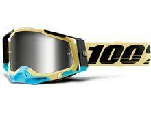 100% Racecraft - Silver Mirror, airblast/Lens: silver mirror