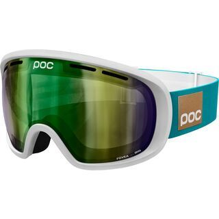 POC Fovea Blunck, hydrogen white/Lens: persimmon green mirror - Skibrille