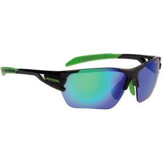 Alpina Tri-Scray S, black-green/green mirror + clear + orange mirror - Sportbrille