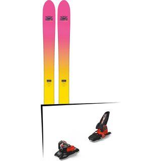 Set: DPS Skis Yvette 112 RP2 Foundation 2018 + Marker Jester 18 Pro ID black/flo-red