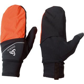 Odlo Intensity Cover Safety Light Handschuhe, black-orange