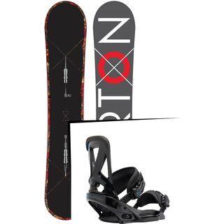 Set: Burton Custom X Wide 2015 + Burton Custom EST 2017, black - Snowboardset