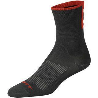 Scott Road Long Sock, black/fiery red - Radsocken