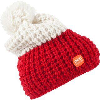 POC Race Stuff Beanie, red/white - Mütze