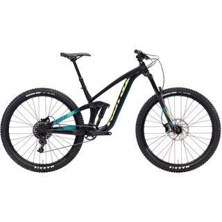 Kona Process 153 AL 29 2018, black/aqua/green - Mountainbike