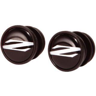 Zipp Bar End Plugs Z Logo, schwarz - Lenkerstopfen