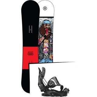 Set: Ride Crook Wide 2017 + Flow Fuse Hybrid 2017, black - Snowboardset
