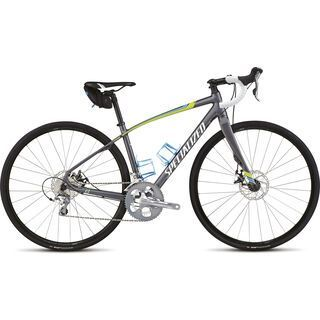 Specialized Dolce Elite Disc C2 EQ 2015, Satin Charcoal/Hyper/Cyan/White - Rennrad