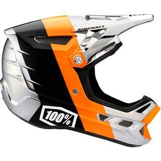 100% Aircraft DH Helmet Chrome Edition, R8 Chrome orange - Fahrradhelm