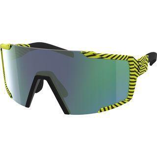 Scott Shield, black/Lens: yellow green chrome - Sportbrille