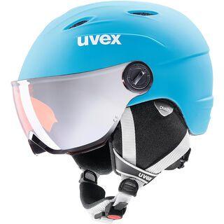 uvex junior visor pro, liteblue-white mat - Skihelm