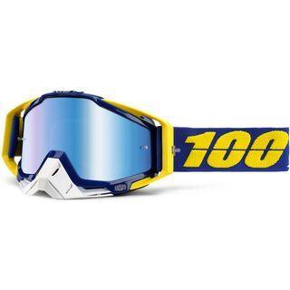 100% Racecraft inkl. Wechselscheibe, lindstrom/Lens: mirror blue - MX Brille