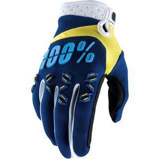 100% Airmatic Glove, navy/yellow - Fahrradhandschuhe