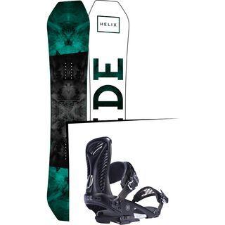 Set: Ride Helix 2017 + Ride Capo 2017, black - Snowboardset
