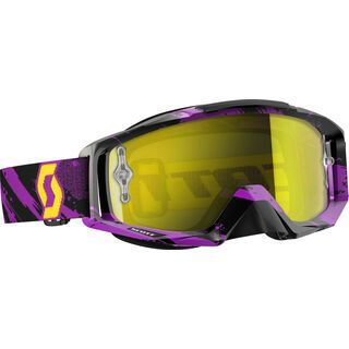 Scott Tyrant, zebra purple/yellow chrome - MX Brille
