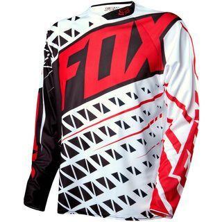 Fox Demo LS Jersey, black/white - Radtrikot