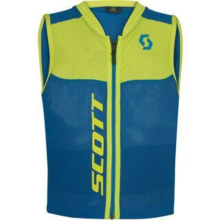 Scott Actifit Plus Vest Protector Junior, mykonos blue/sulphur yellow - Protektorenweste