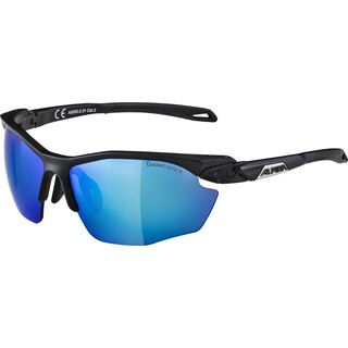 Alpina Twist Five HR CM+, black matt  /Lens: ceramic mirror blue - Sportbrille