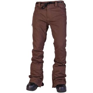 Nitro L1 Skinny Denim, Brown Overdye Denim - Snowboardhose