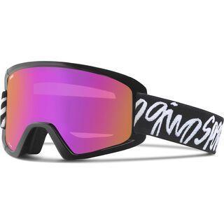Giro Dylan + Spare Lens, black script/amber pink - Skibrille