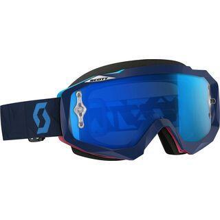 Scott Hustle MX, angled blue/pink electric blue chrome - MX Brille