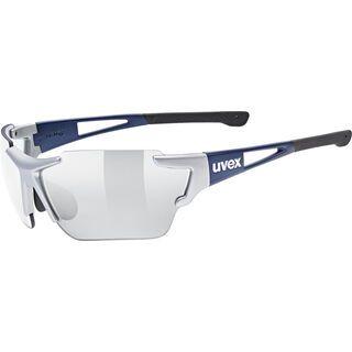 uvex sportstyle 803 race v, silver blue metallic/Lens: variomatic litemirror silver - Sportbrille