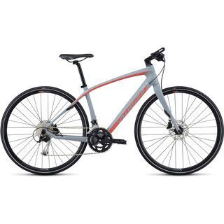 Specialized Vita Sport Carbon 2017, gray/coral/turquoise - Fitnessbike