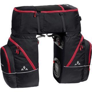 Vaude Karakorum, black/red - Fahrradtasche