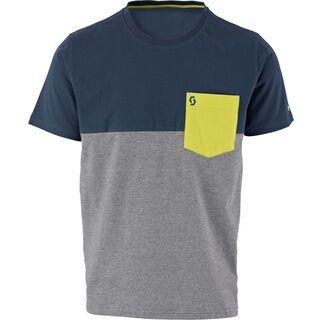 Scott 30 Casual s/sl T-Shirt, blue nights/heather grey