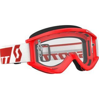 Scott Goggle Recoil Xi, red/Lens: clear - MX Brille