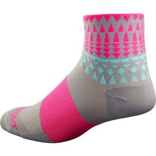 Specialized Women's RBX Mid Sock, grey/pnk - Radsocken