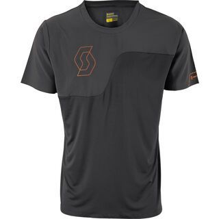 Scott Trail Tech 10 s/sl Shirt, black/tangerine orange - Radtrikot