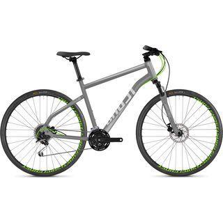 Ghost Square Cross 2.8 AL 2018, gray/silver/neon green - Fitnessbike