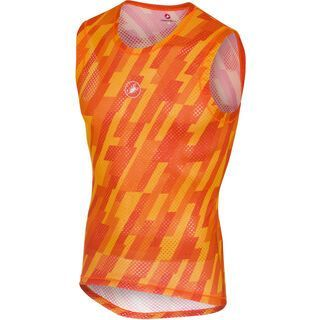 Castelli Pro Mesh Sleeveless, orange - Unterhemd
