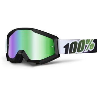 100% Strata, black lime/Lens: mirror green - MX Brille