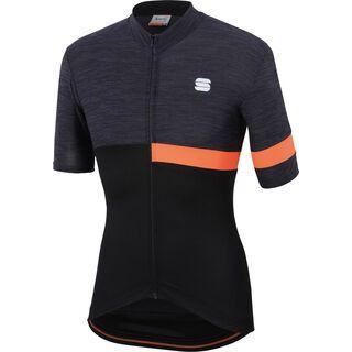Sportful Giara Jersey, black/black/orange - Radtrikot