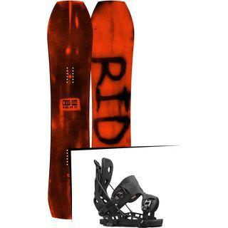 Set: Ride Warpig Large 2017 + Flow NX2 2016, black - Snowboardset