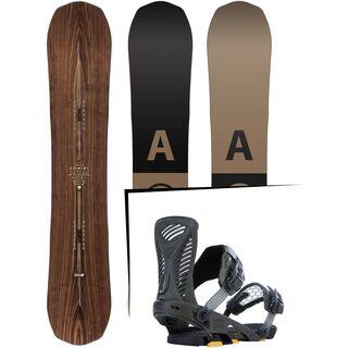 Set: Arbor Element Premium 2017 + Ride Capo 2015, matte olive - Snowboardset