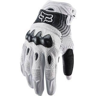 Fox Bomber Glove, white black - Fahrradhandschuhe