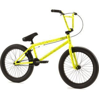 Fiend Type O- 2019, yellow w/splatter - BMX Rad
